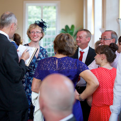 Luke Warm Caricaturing On the Spot at a Wedding Reception in Wiltshire.