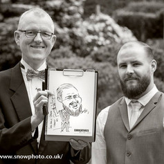 On the spot caricaturing at Weddings, Parties and Corporate Events