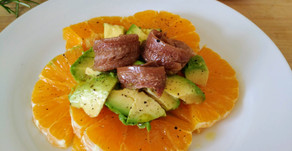 Salade orange, avocat, anchois
