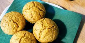 Muffins et madeleines butternut, banane et épices.