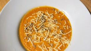 Soupe de butternut et lentilles corail au curry