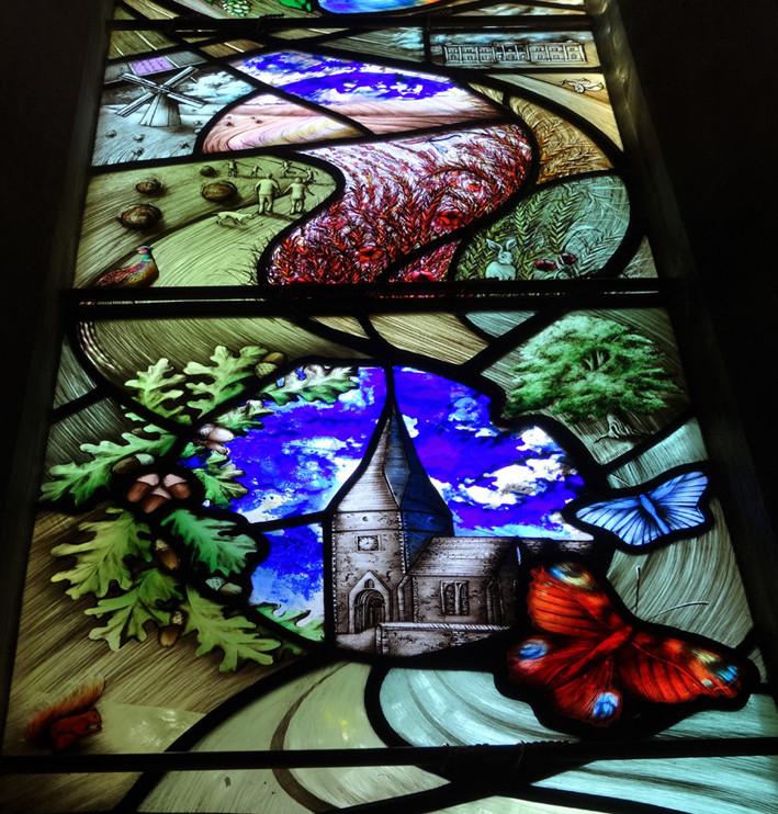 Tom's Window - church and fields