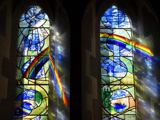 Tom's Window -  full rainbow