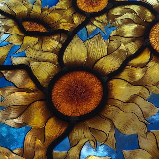 sunflowers against sky.jpg