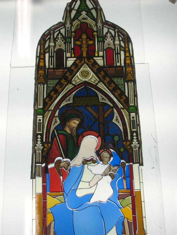Nativity Cut Glass