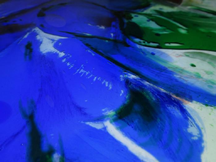 Damson Tree - blue flower , detail