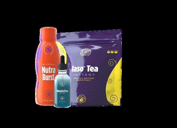 Lemon Detox Tea Kit W/Resolution Drops