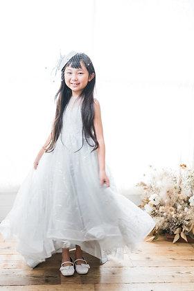 130-グレーロングドレス