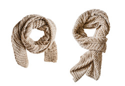 Two Chunky Scarves
