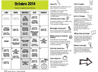 La programmation d'octobre est arrivée -