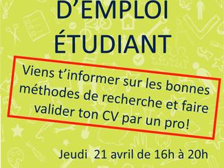 Atelier CV | Recherche d'emploi étudiant