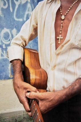 Street musician detail.  Coro, Venezuela