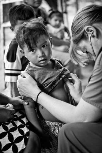 Young boy at remote clinic