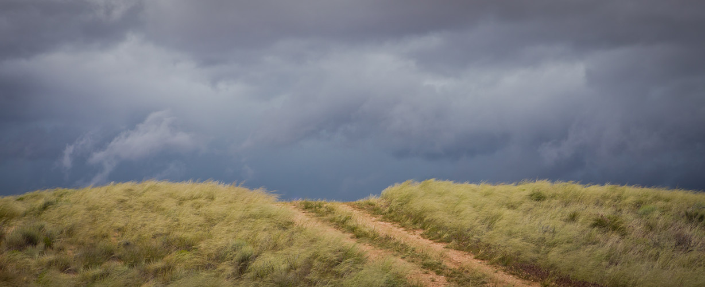 Storm brewing near Fredonia, AZ Panoramic