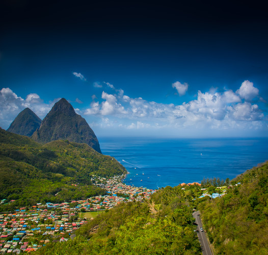 Soufriere and the Pitons, St. Lucia