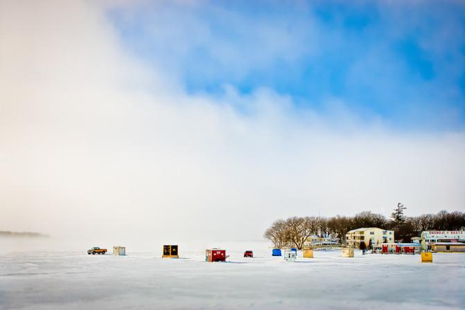 Winter scene.  Lake Okoboji, IA