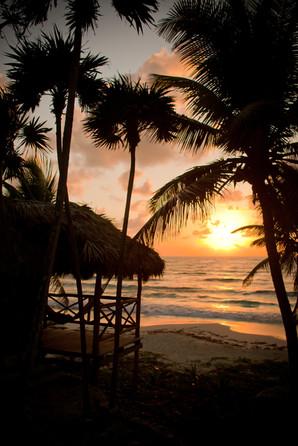 Sunrise.  Tulum, Mexico