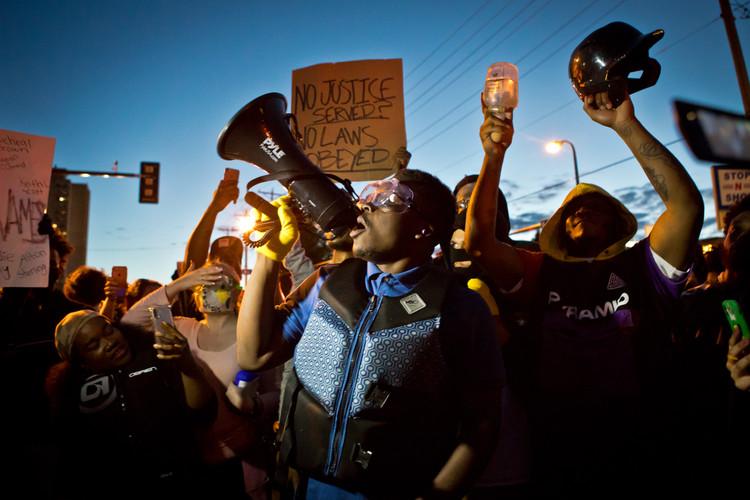 Ja'Mal Green speaks during the Minneapolis / George Floyd protests in 2020.