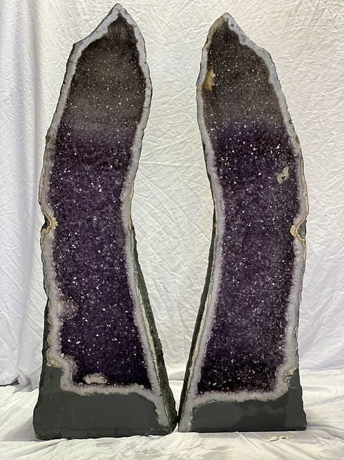 XL Amethyst Cathedral Pair