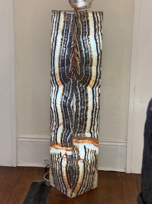 XL Zebra Onyx Lamp