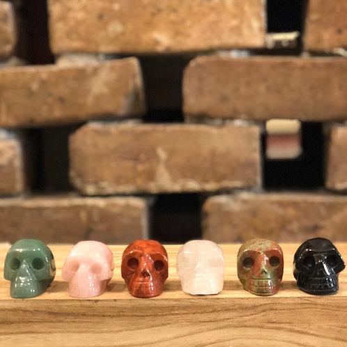 Gemstone Skull Carvings