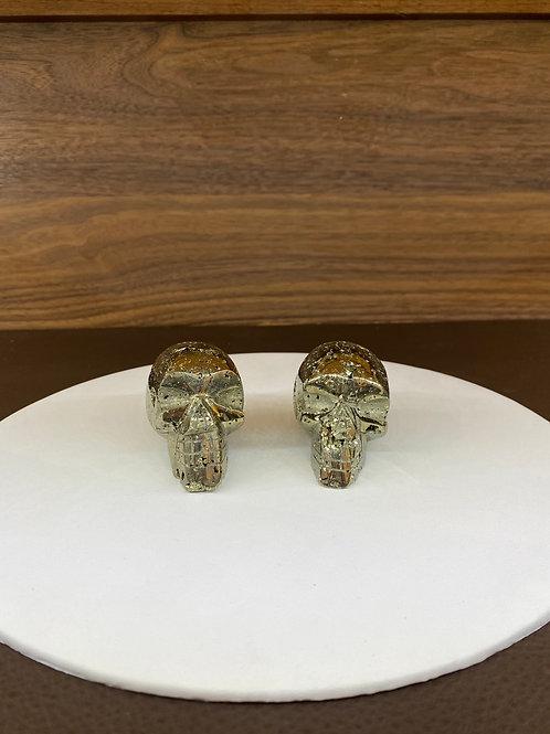 Pyrite Stone Skull