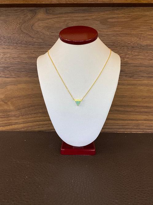 Jade Triangle Necklace