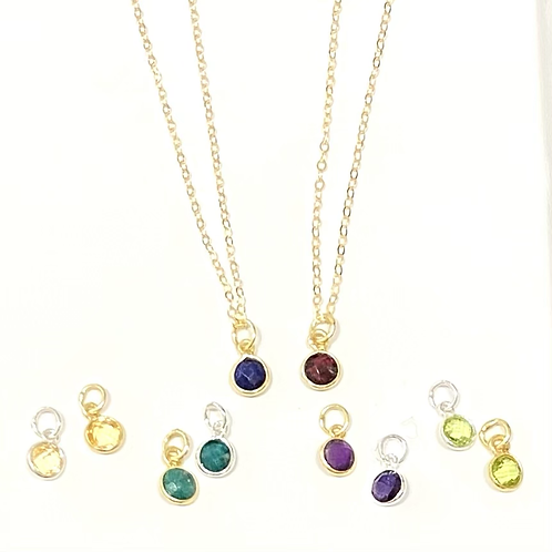 Tiny Faceted Crystal Necklace
