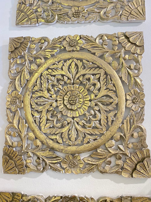 Gold Wood Wall Panel