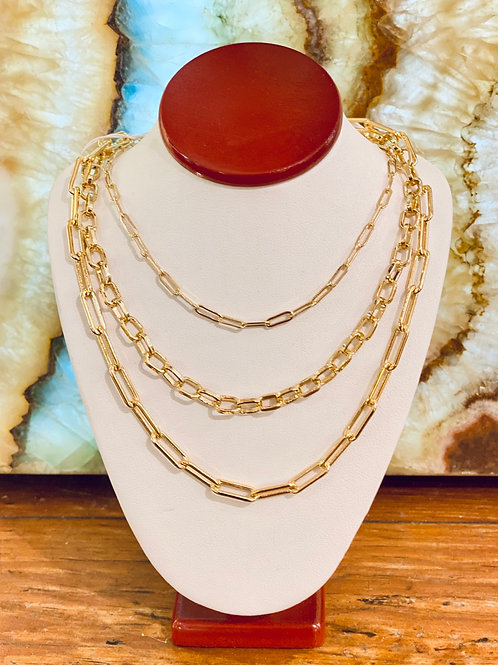 14k Gold-Filled Chain Choker w/ extender