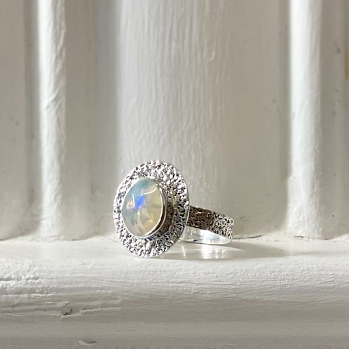 Ethiopian Opal Ring - Sterling Silver
