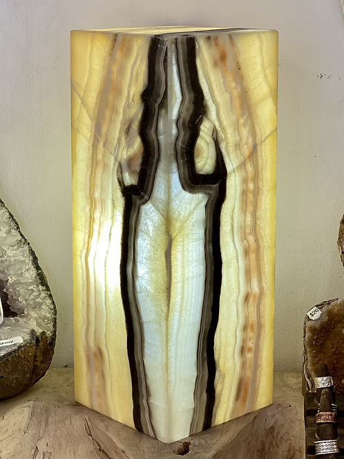 Zebra Onyx Lamp