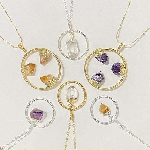Crystal Circle Necklaces
