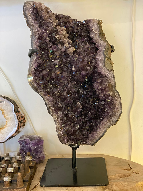 XL Amethyst on Custom Stand