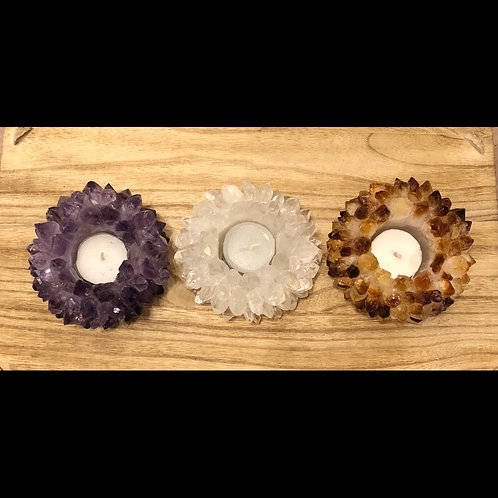 Crystal Point Candle Holders
