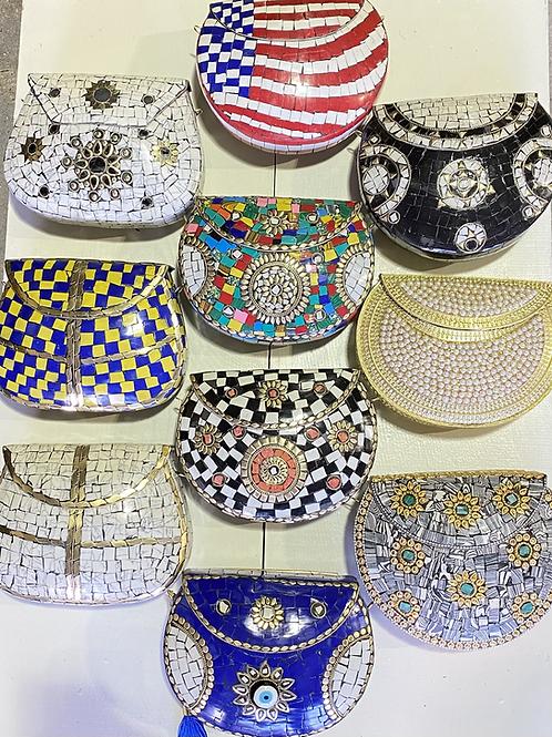 Mosaic Brass Handbags - Handmade