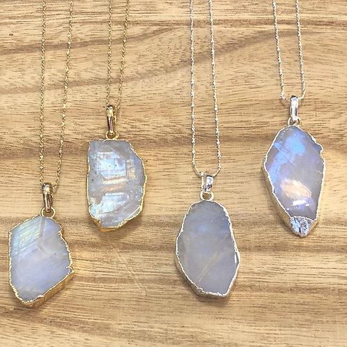 Moonstone Slab Necklace