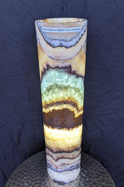Aqua Onyx Lamp from Mexico