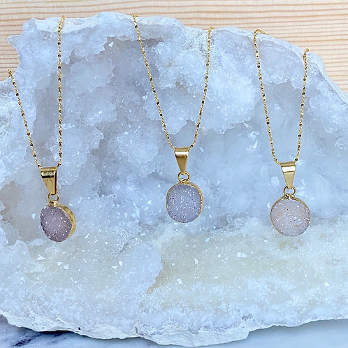 Druzy Amethyst Necklace