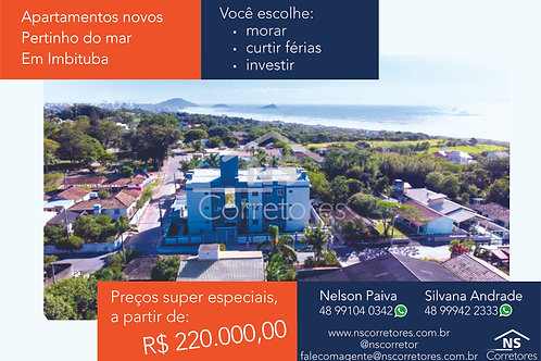 LINDO 2 DORMS, NOVO, FRENTE MAR - ref.: NS488
