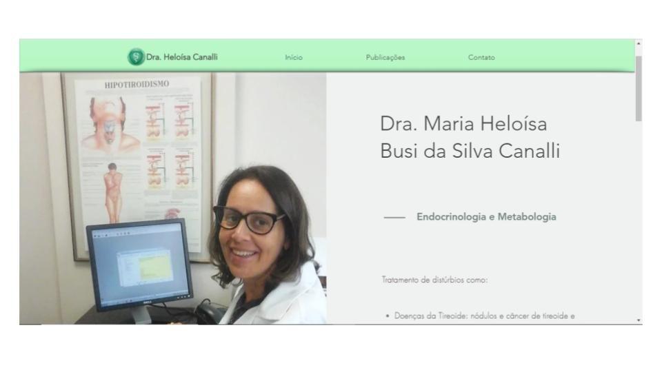 Site Dra. Heloísa Canalli - home page