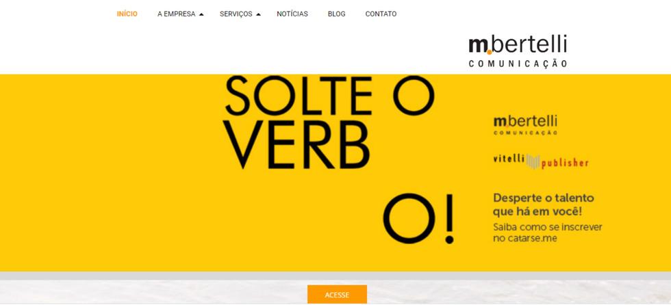 Site MBertelli Comunicação - home page