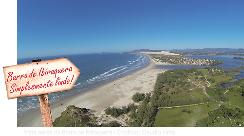 Orla da praia da Barra de Ibiraquera - Imbituba