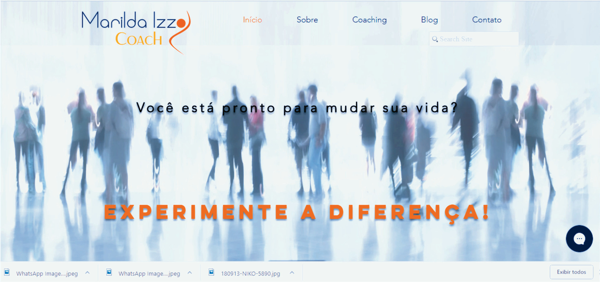Site Marilda Izzo Coach - home page