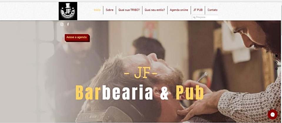 Site JF Barbearia & Pub - home page