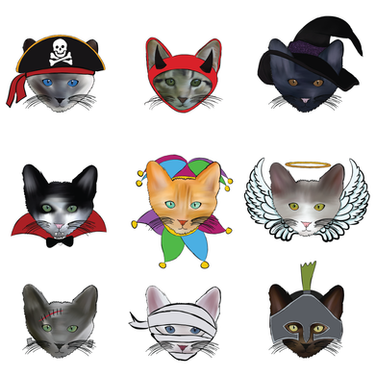 Purrfectly Spooky Pattern