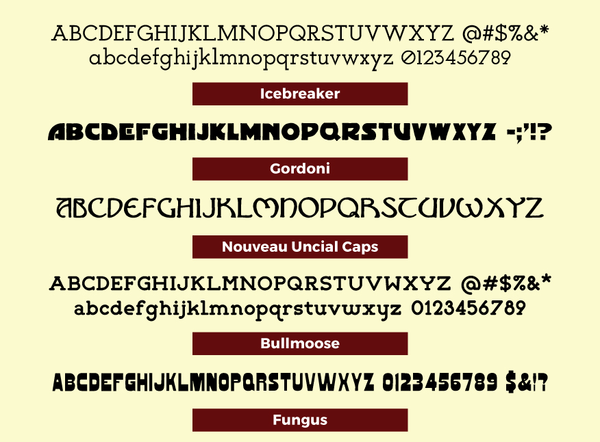 Original Typefaces