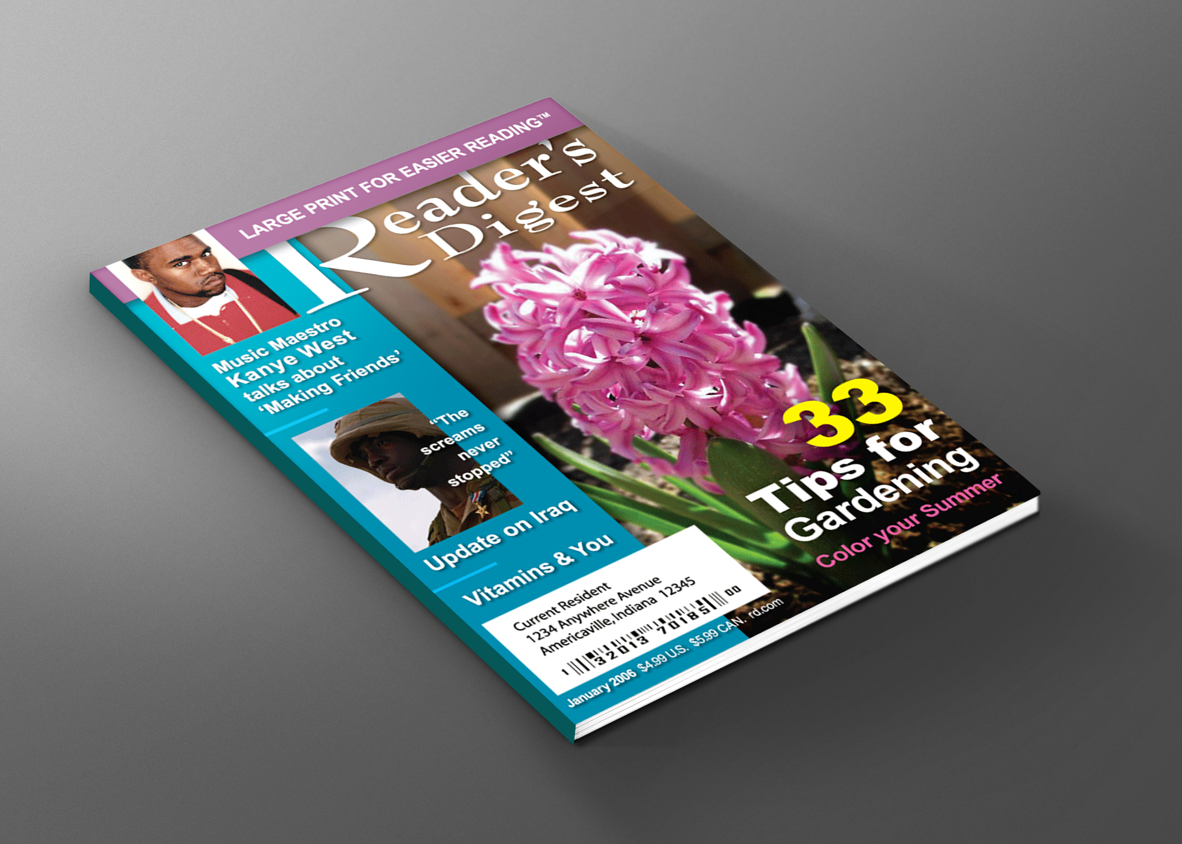 Reader's Digest Cover Design