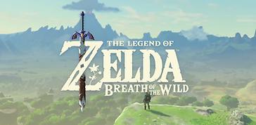 Imagem do jogo Zelda Breath of the Wild, visão panorâmica de uma floresta, um vulcão ao fundo e o personagem Link de costas em primeiro plano