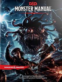 Capa do Manual dos Monstros usado no sistema de RPG Dungeons & Dragons